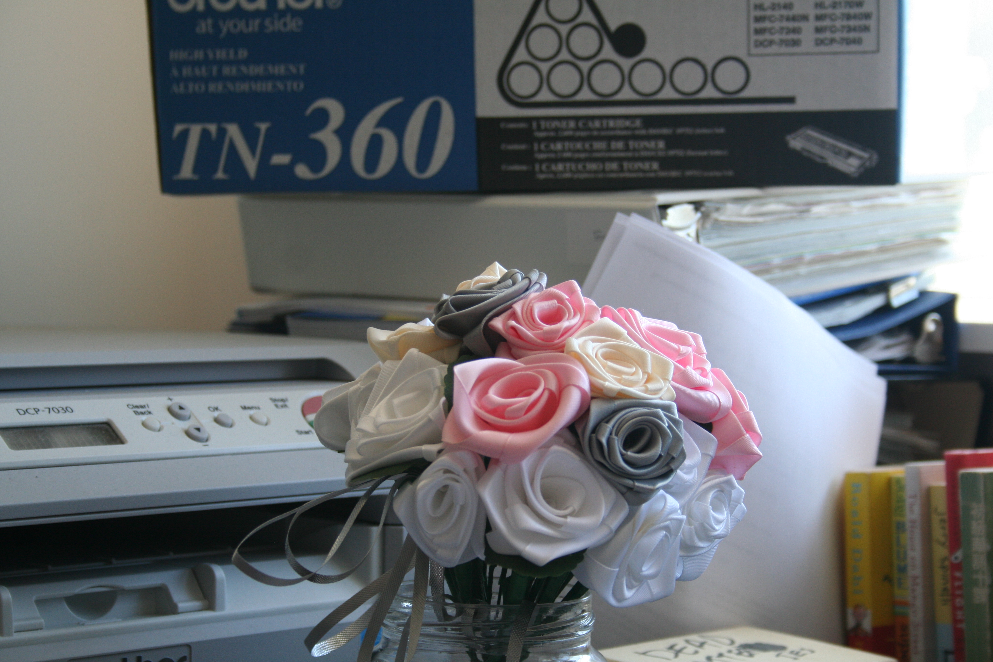 Wedding Season Ribbon Rose Bouquet Dancing In The Rain
